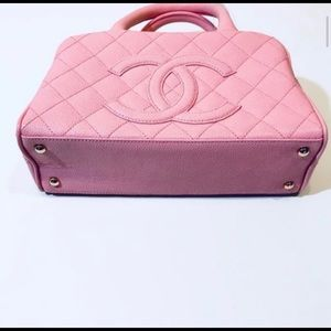 NWT Chanel Pink Leather Small Bowler Bag